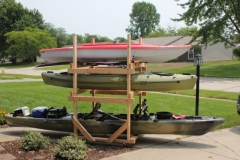 DIY Kayak Storage Rack Side View