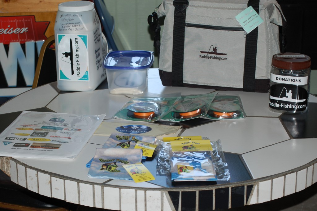 The prize table