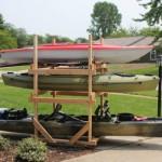 DIY Rolling Kayak Storage Rack (2x4s and caster wheels)